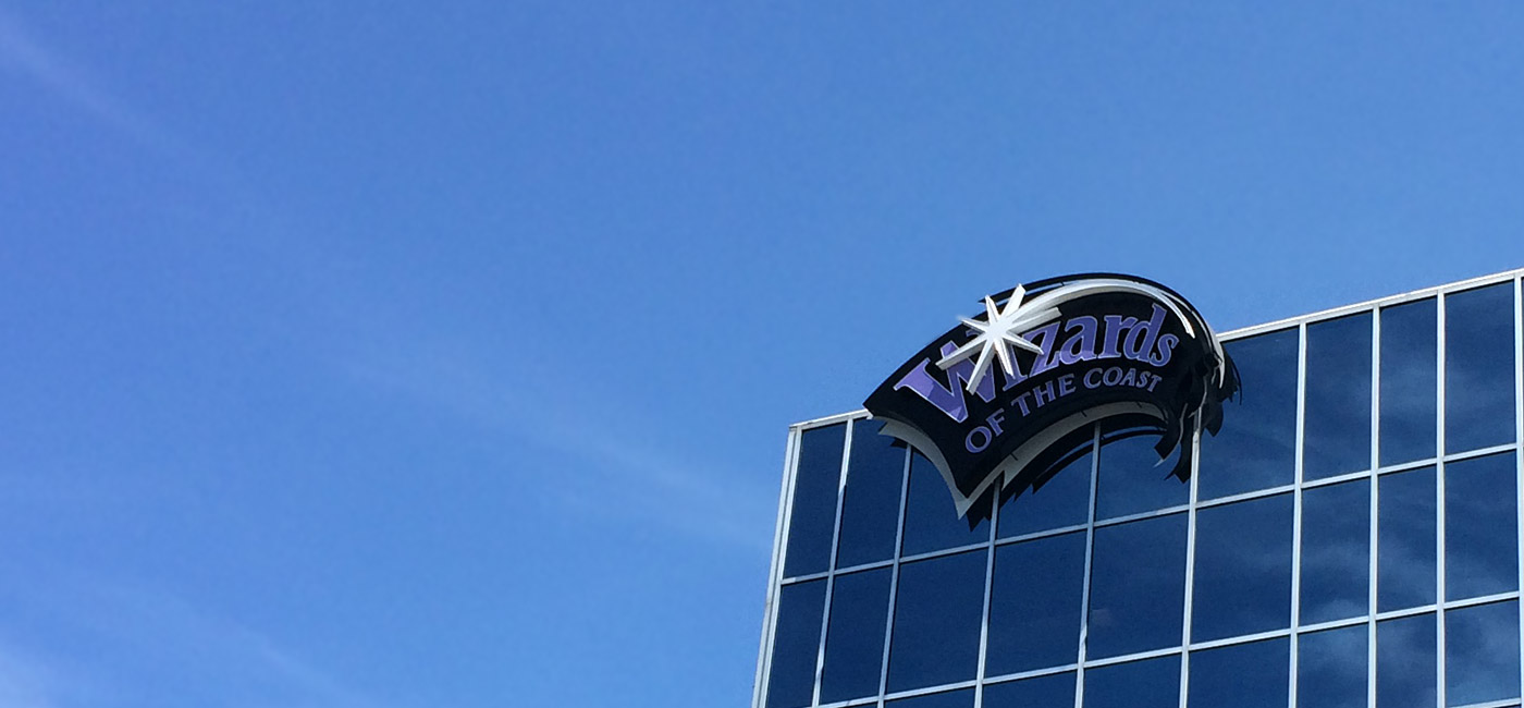 Header image, the Wizards of the Coast building